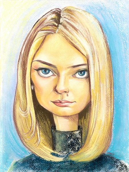 портретный шарж для девушки